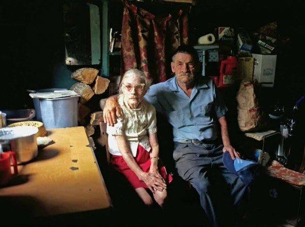 Eleanor and Albert Alger in their oneroom home.