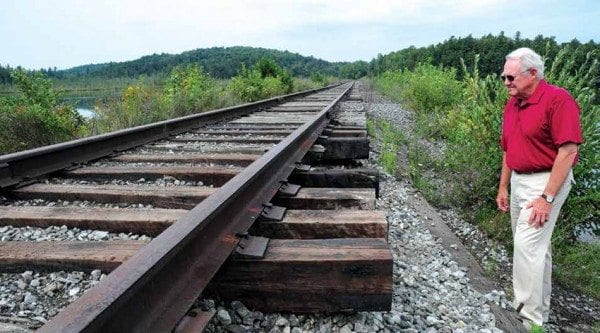 Lee Keet contends that replacing the tracks with a recreational trail would boost the economy. Photo by Susan Bibeau