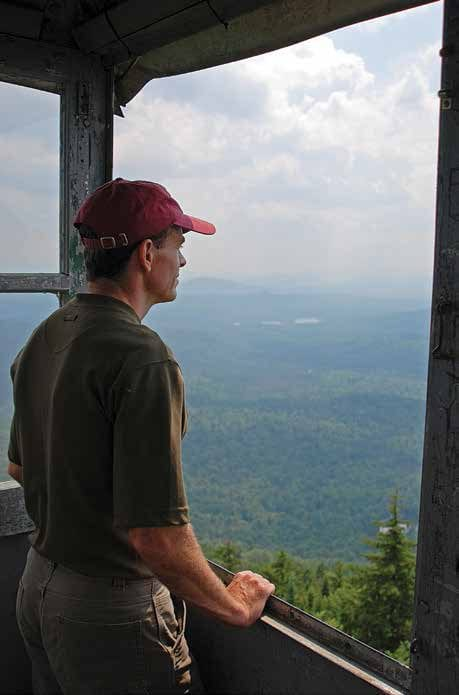 The tower offers a panoramic view of the Adirondacks. Photo by Lisa Densmore