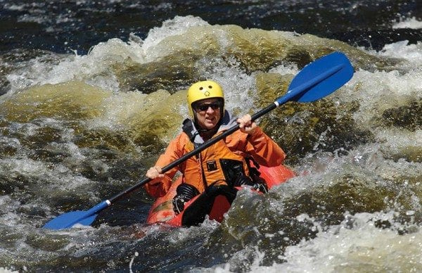 Explorer Editor Phil Brown rides through the rapids known as The Narrows in the Hudson Gorge. Photo by Jim Swedberg
