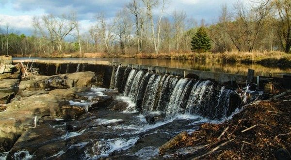 A small dam in Wadhams harnesses the power of the Boquet River.