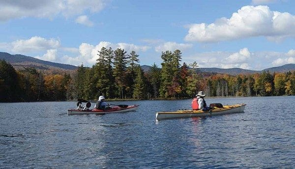 The Essex Chain Lakes opened to paddlers last spring. Photo by Susan Bibeau