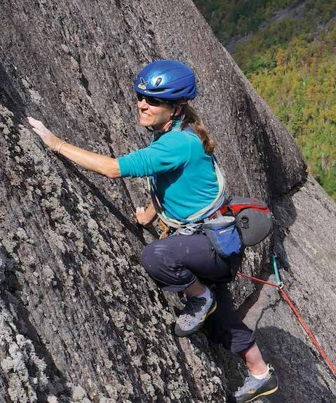 Karen Stolz is an accomplished climbing guide and photographer. Photo by R.L Stolz