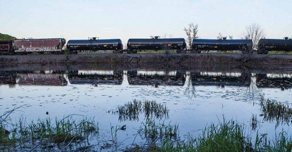 Trainloads of crude oil travel more than one hundred miles within the Adirondack Park. Photo by Nancie Battaglia
