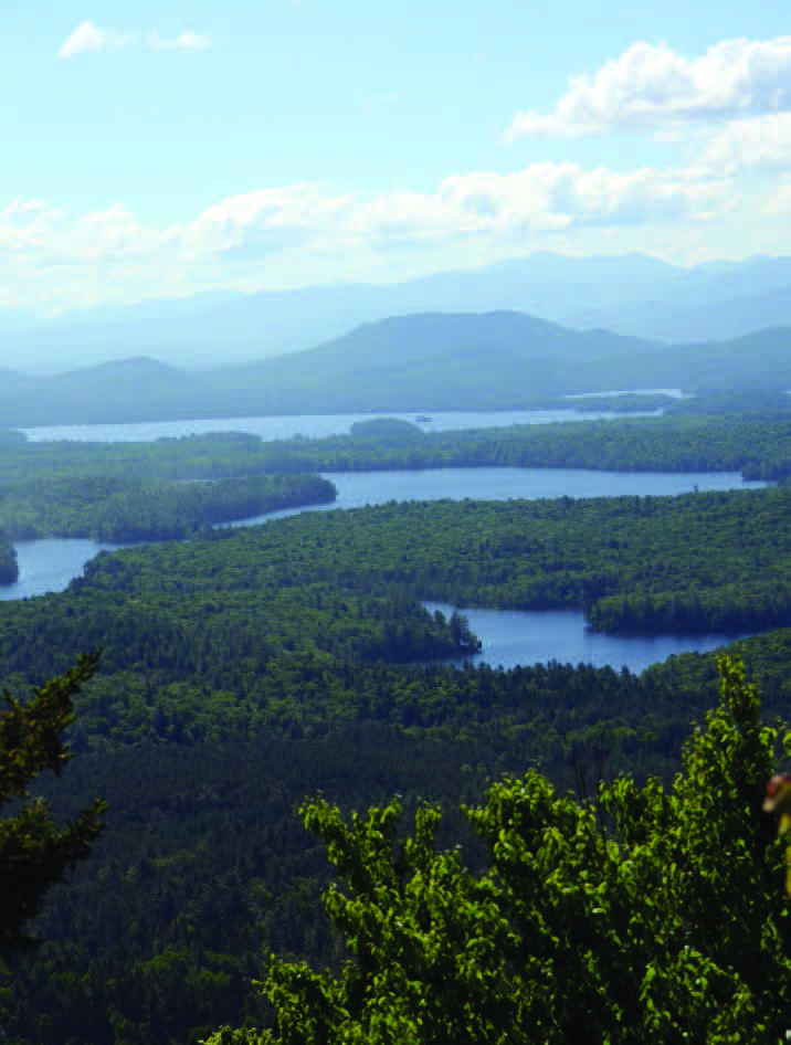Long Pond Mountain's view of the Canoe Area. Photo by Lisa Densmore Ballard