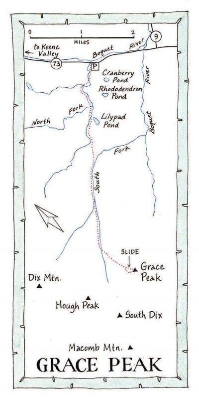 Grace Peak Map by Nancy Bernstein