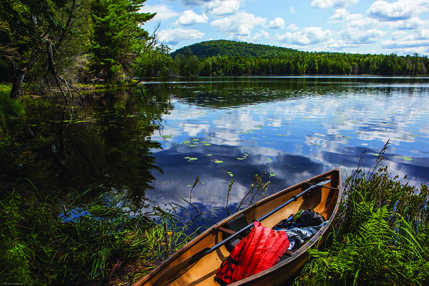 The Essex Chain Lakes has become a destination for paddlers. Photo by Nancie Battaglia