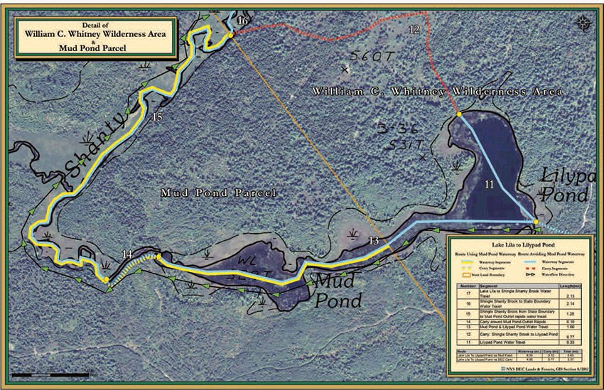 The disputed waterway is shown by the double (yellow and blue) lines. Courtesy of State Attorney General's Office.