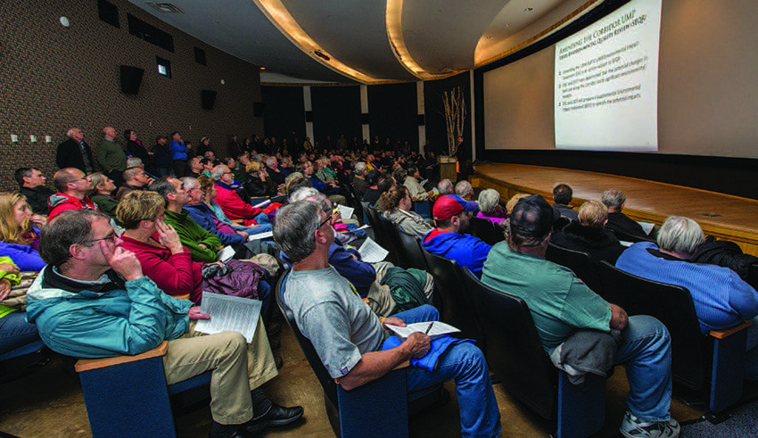 About two hundred people attended the state's presentation at the Wild Center in Tupper Lake. Photo by Nancie Battaglia