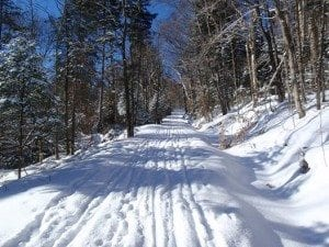 The Jackrabbit Ski Trail on Monday near Lake Placid.