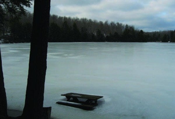 Woodworth Lake in winter. Courtesy of Dave Gibson, Adirondack Wild
