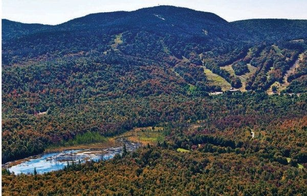 The Adirondack Club and Resort would be built on timberlands near the Big Tupper Ski Area. Photo by Carl Heilman II