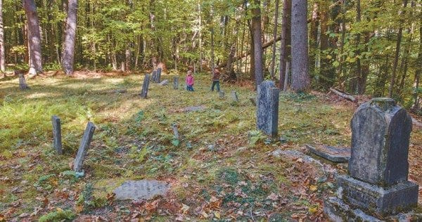 The last burial in the Wardsboro Cemetery occurred in 1909. Photo by Carl Heilman II