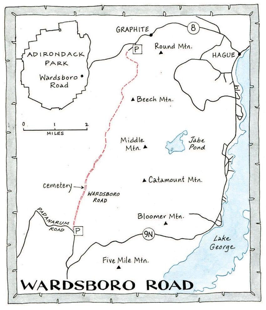 Wardsboro Road Map by Nancy Bernstein