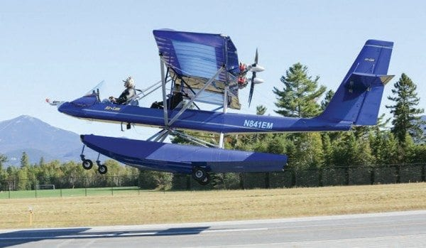 McNeil built this open-cockpit plane, first designed for National Geographic. Photo by Mike Lynch