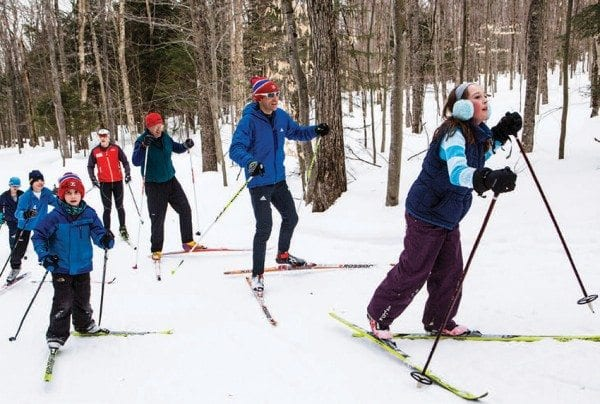 Nordic ski centers often open later in the winter than they once did. Photo by Nancie Battaglia