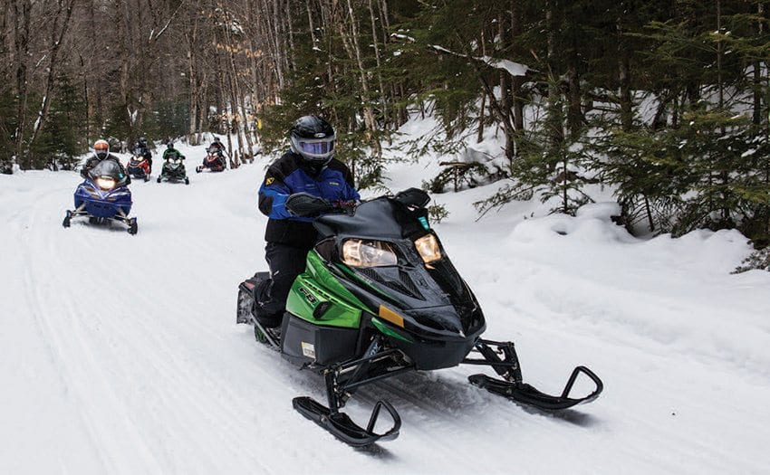 Because of its reliance on natural snow, snowmobiling suffers during warm winters. Photo by Nancie Battaglia