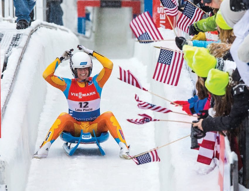 Lake Placid continues to host winter-sports competitions. Photo by Nancie Battaglia