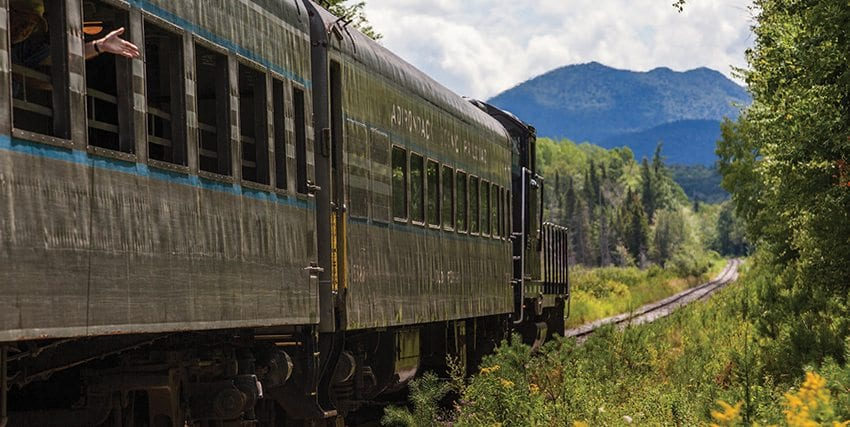 The Adirondack Scenic Railroad will have to discontinue a tourist train that runs between Lake Placid and Saranac Lake. Photo by Nancie Battaglia