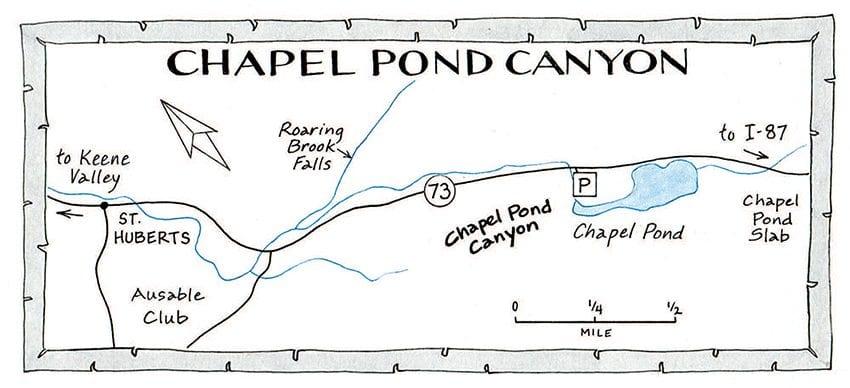 Chapel Pond Canyon Map by Nancy Bernstein