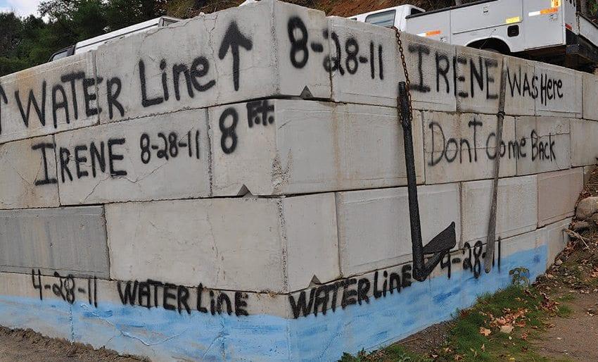 irene high water mark
