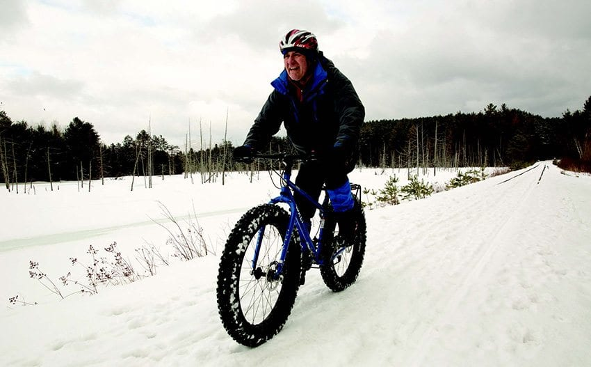 Fat-tire bikes are a new form of recreation that could be pursued during low-snow winters. Photo by Mike Lynch