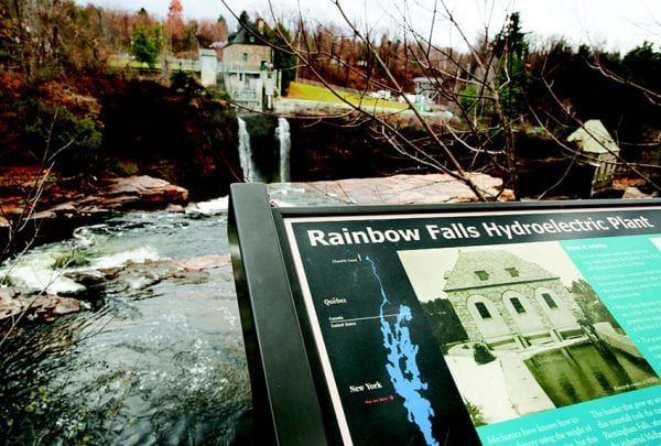 The Rainbow Falls hydroelectric facility is located on the Ausable River in Keeseville. Photo by Mike Lynch