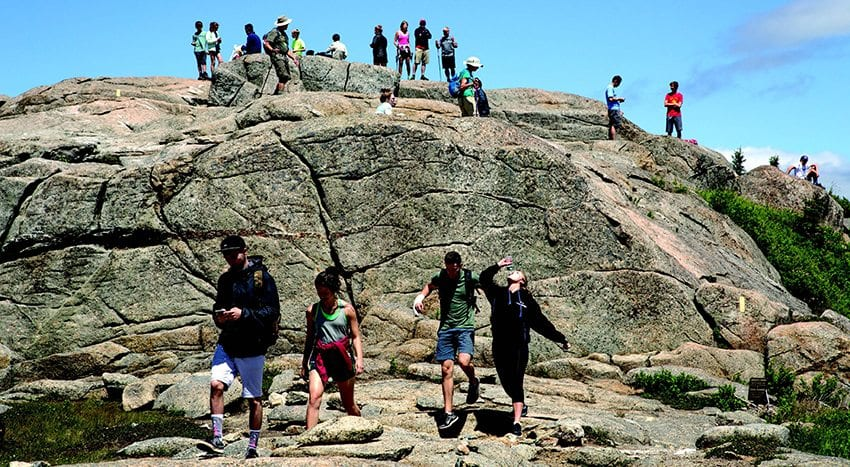 Cascade Mountain outside Lake Placid may see hundreds of hikers on a weekend day in summer. PHOTO BY MIKE LYNCH