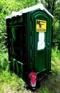 The Ausable River Association has installed privies at busy trailheads. PHOTO BY PHIL BROWN