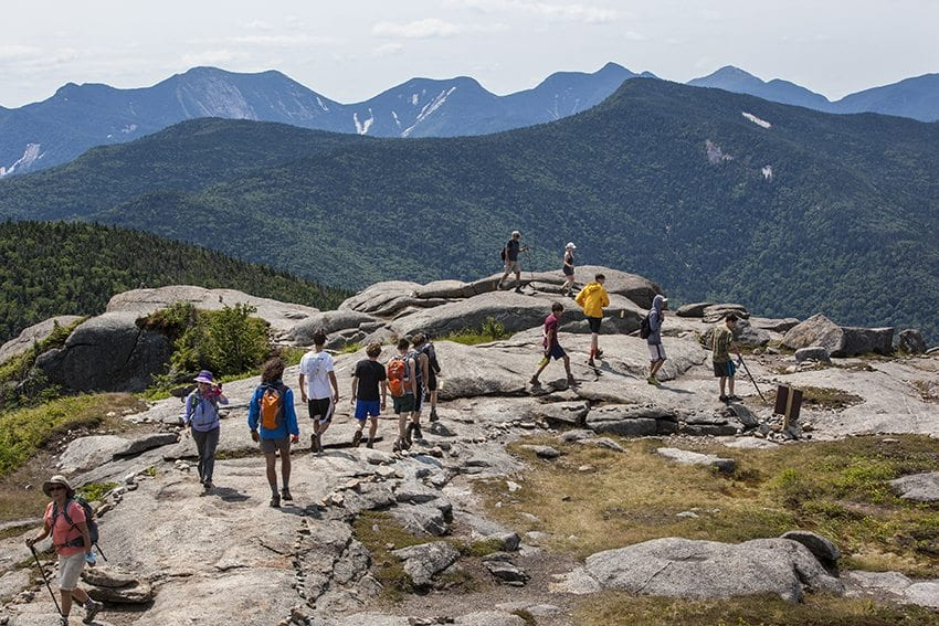 Trails are becoming more degraded as more people flock to the High Peaks. PHOTO BY NANCIE BATTAGLIA