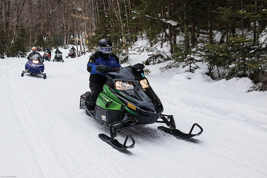 As it builds community connectors, the state is closing snowmobile trails in the forest interior. PHOTO BY NANCIE BATTAGLIA