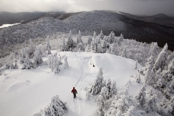 A view of Doug Fitzgerald from the St. Regis Mountain Firetower.