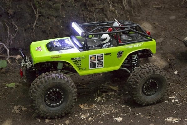 An upclose view of the toy car that was able to navigate the trail on Cascade Mountain.