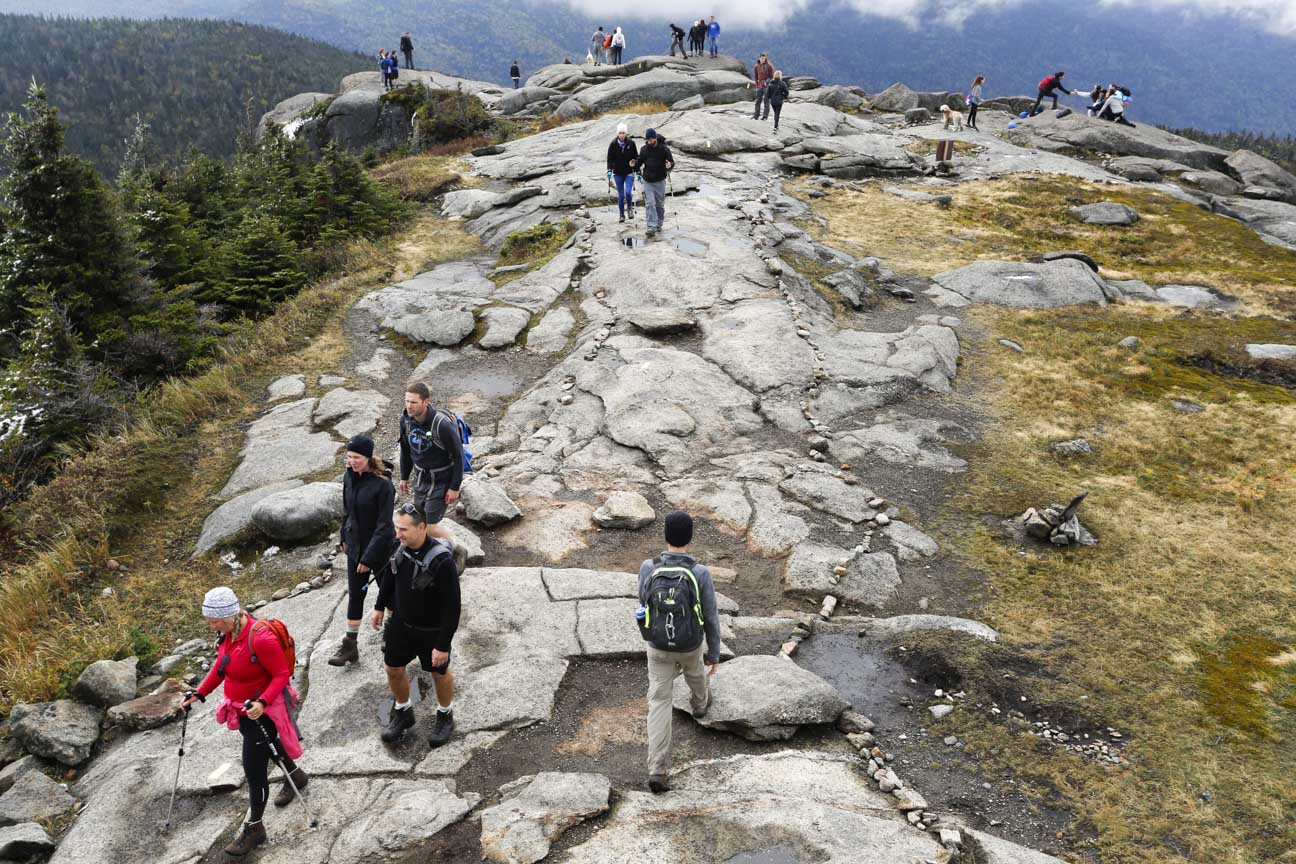 Summit of Cascade Mountain in the Adirondack Park.