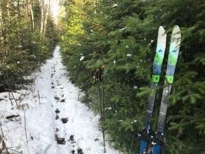 Early backcountry skiing