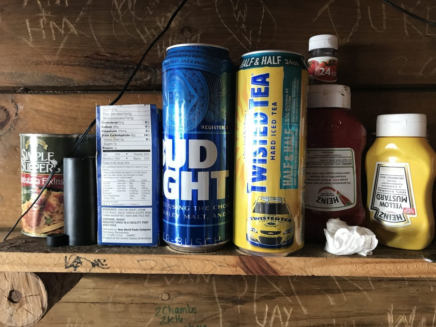 Thomas Mountain cabin shelf