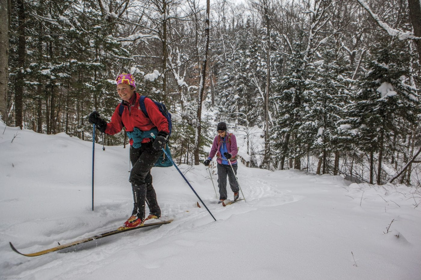 Cascade Ski Touring Center, near Lake Placid, is one of the many Cross-Country Ski Centers in the Adirondack Park.