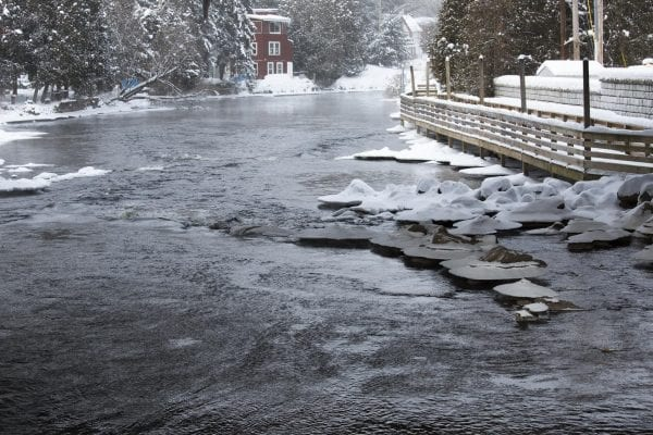 Scenes from downtown Saranac Lake Friday afternoon. Temperatures were about -10 Fahrenheit with a wind chill of -27.