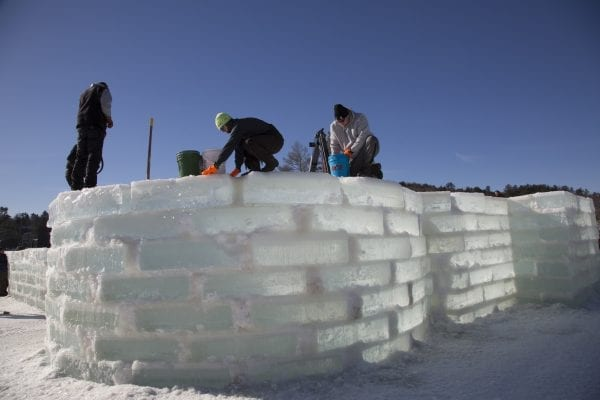 Ice Palace Construction