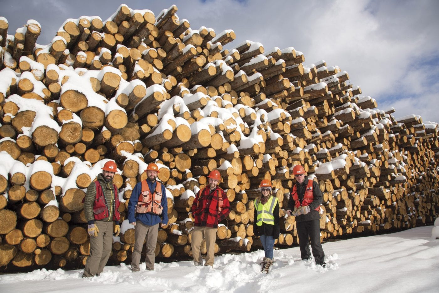 Molpus Woodlands crew near Tupper Lake, New York.