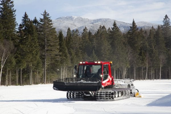 Mount Van Hoevenberg installed a snowmaking machine last winter in an effort to extend its skiing season, especially during warm winters when natural snow is scarce.