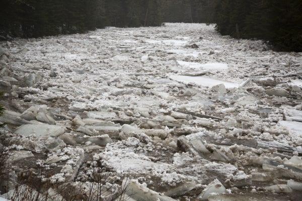 Ausable River Ice Jam