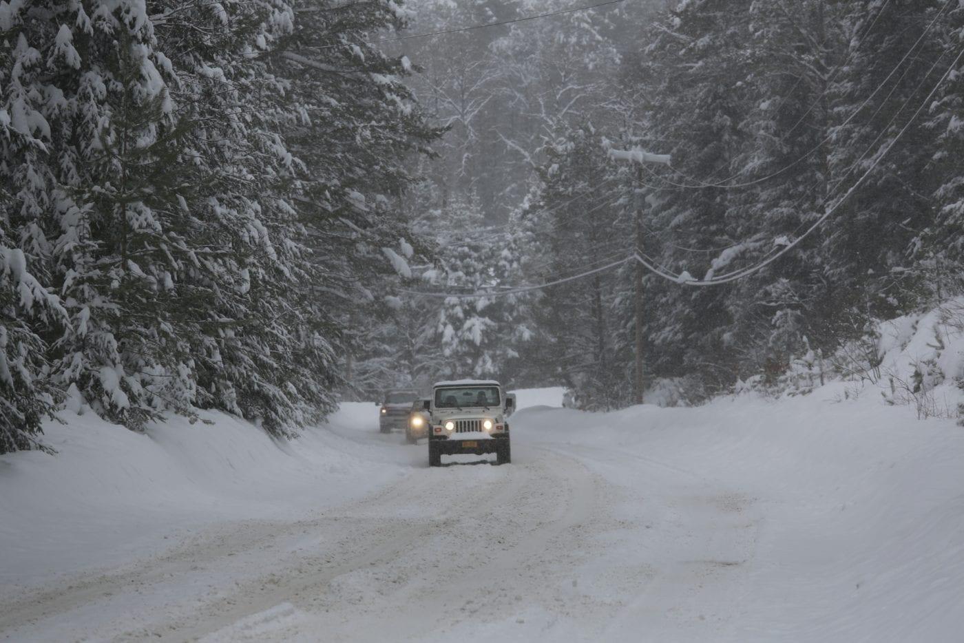 Snowy Saranac Lake