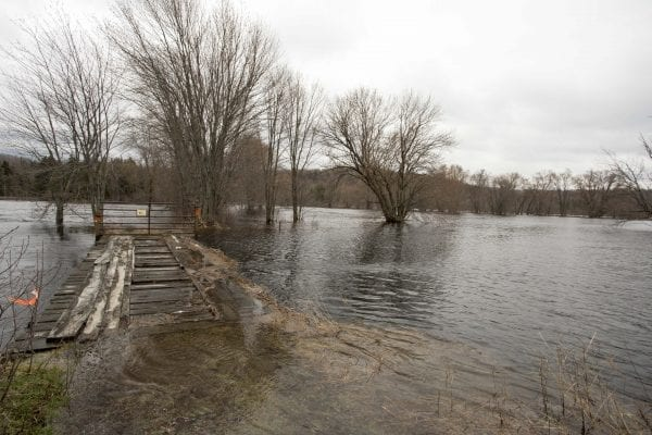 High waters on the Saranac River on May 3.