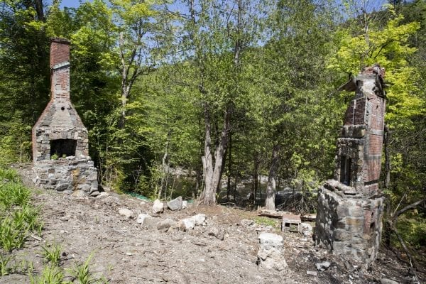 Ruins from an old building in the former village of Tahawus on Upper Works Road in Newcomb.