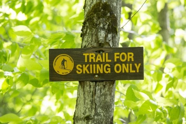 Sign at Whales Tale ski trail.