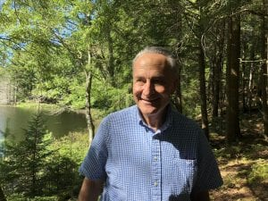 Chuck Schumer at Bear Pond in the Adirondacks