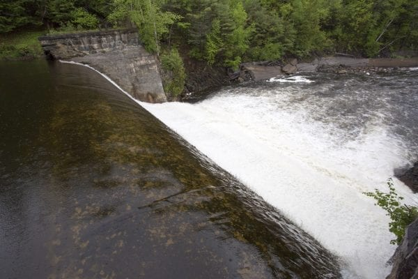 Rome Dam on the West Branch of the Ausable River in May 2017. Photo by Mike Lynch