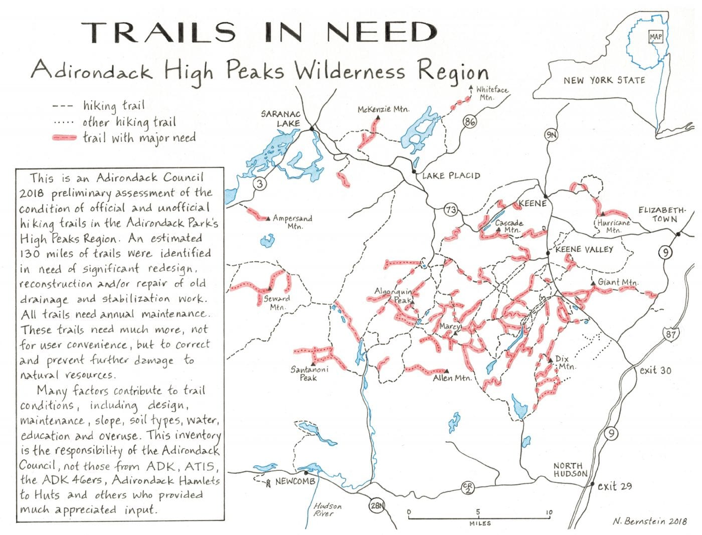 guide to adirondack trails high peaks region
