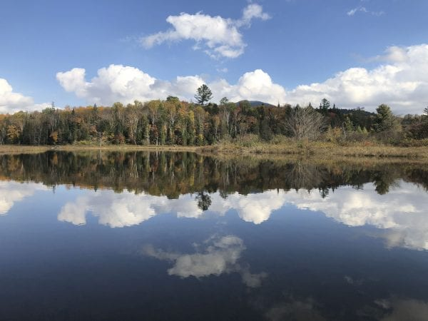 The upper Hudson River just below Sanford Lake. Photo by Phil Brown